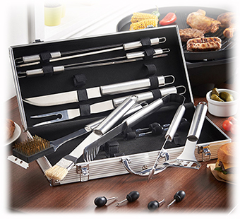 bbq tools gift accessory set for men