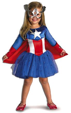 Captain America Costume for Girls