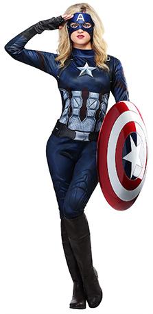 womens Halloween captain america costume