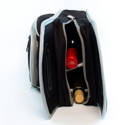 Insulated wine tote bag