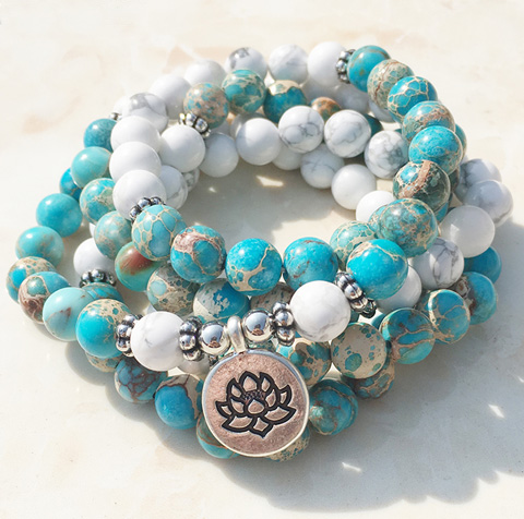 Lotus seed mala beads