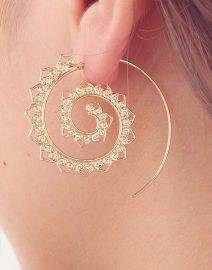 Bohemian Spiral Earrings